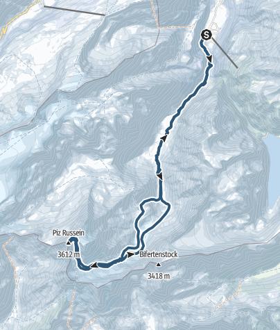 Karte / 2016-04-20; Tödi (3614m)