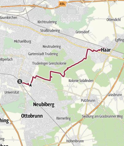 Karte / Truderinger Wald
