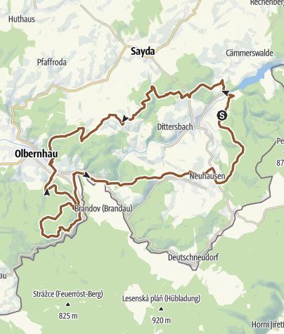 Karte / Goldhübel-Tour: Rund um den Spielzeugwinkel