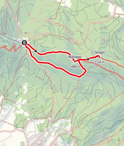 Karte / Mühlriegel und Ödriegel von Eck