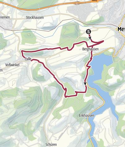 Karte / Wanderung von Meschede nach Calle