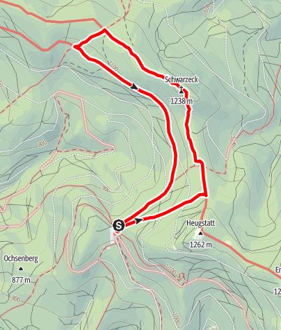 Karte / Schwarzeck von Schareben