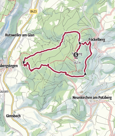 Karte / Rund um den Potzberg 21.04 16