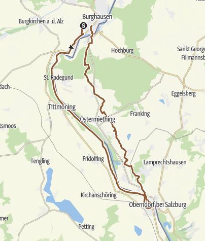 Karte / Tour nach Laufen