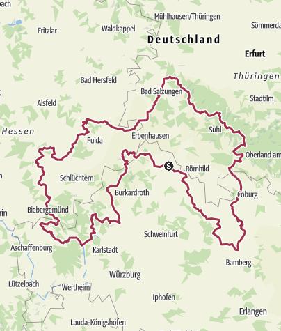 Karte / Motorradtour Pfingsten 2016