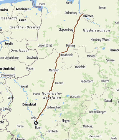 Map / Tourenplanung für 24.Mai Rtg Norden...