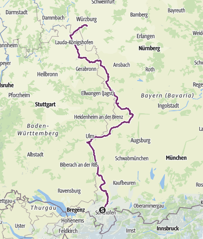 Map / Romantic Route and Buddhist Centers