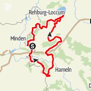Karte / Schaumburger Zeitreise - Tagestour per Motorrad oder Cabrio