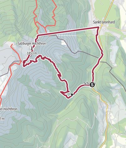 Karte / Salzburger Hochthron