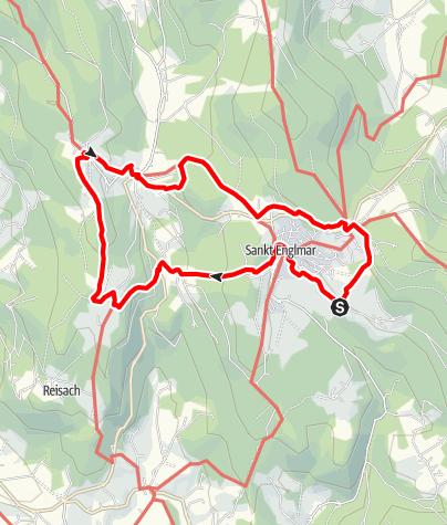 Karte / WaldWipfelWeg und Sommer-Rodelbahn von Glashütt, Gasthof Buglhof