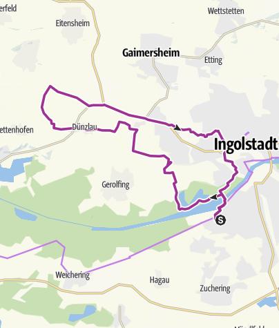 Karte / 3. Mai 2016 Ingoradler Nachmittagstour - Eis Cafe Florian