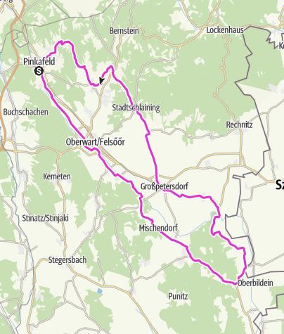 Karte / Tour 02: Pinkafeld - Eisenberg - Stadtschlaining