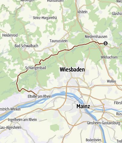 Map / Niederjosbach (Eppstein) - Kloster Eberbach - Eltville