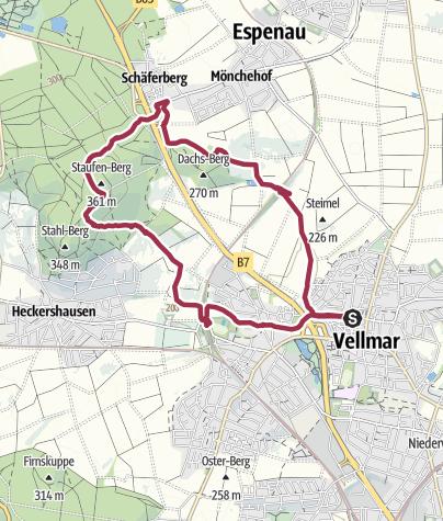 Karte / V5 Staufenbergweg
