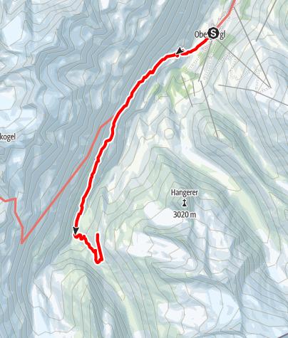 Karte / Schäferweg zur Langtalereckhütte