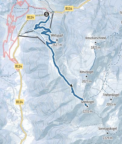 Karte / Großer Geierkogel 2233m