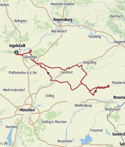 Karte /  8. Mai 2016 Rollertour nach Eggenfelden