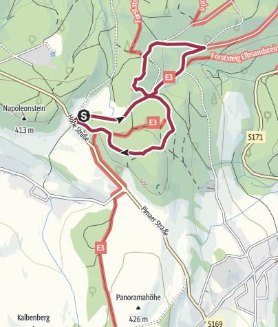 Karte / Durch das Felsenlabyrinth