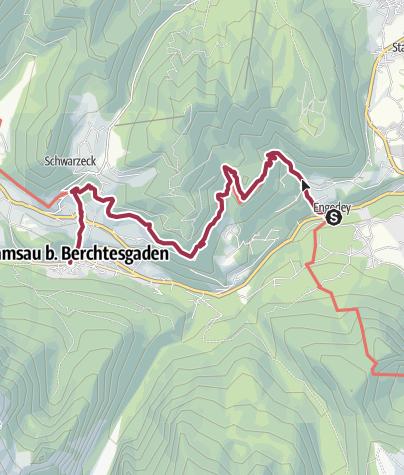 Karte / Auf dem Soleleitungsweg nach Ramsau