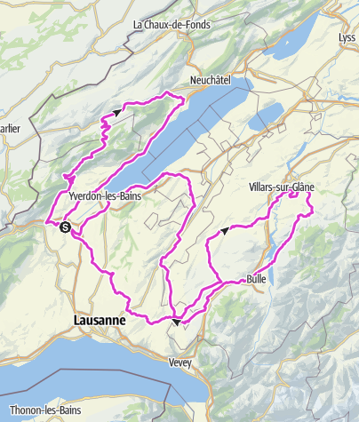 Karte / Parcours 333km - Wysam 333