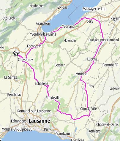 Map / Parcours 111km - Wysam 333