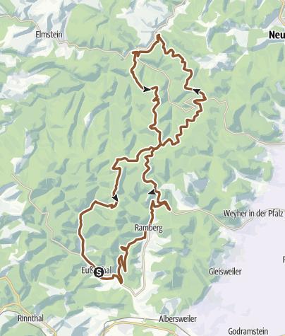 Karte / BurgSpangenberg-Krappenfelsen-Wackelstein