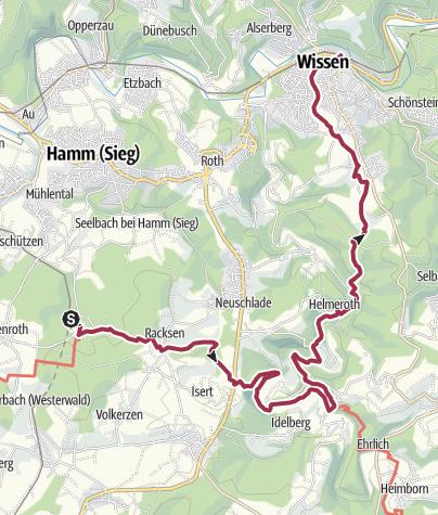 Karte / Marienthal - Westerwaldsteig - Wissen