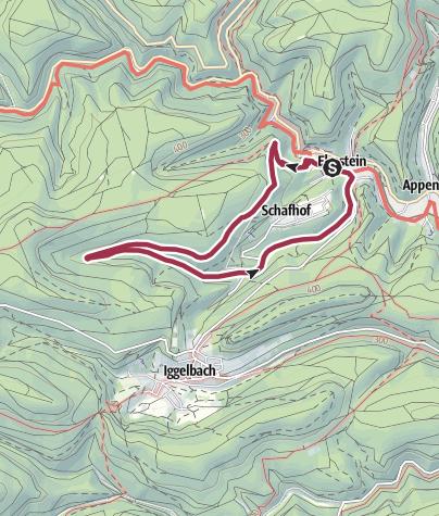 Karte / Elmstein Rundweg 1 (gelbe Zahlen)