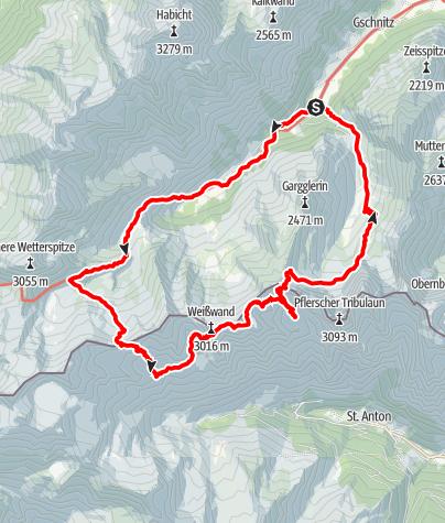 Map / 3 Hütten Wochenende (Bremer-, Madgeburger-, Tribulauenhütte)