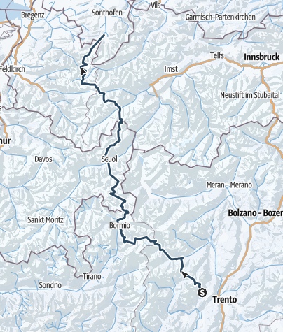 Karte / SKi Transalp Trento - Obersdorf V1