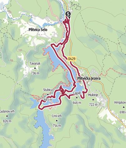 Nationalpark Plitvicer Seen Karte.Plitvicer Seen Rundtour Wanderung Outdooractive Com