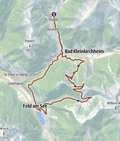 Karte / Kirchleitn Kolmnock Feldpann Brennsee Kirchleitn
