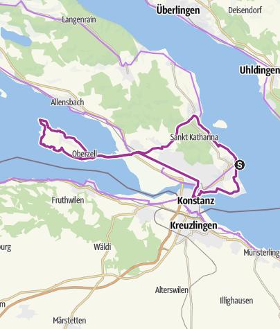 Insel Reichenau Karte.Radtour Rund Um Die Insel Reichenau Radtour Outdooractive Com