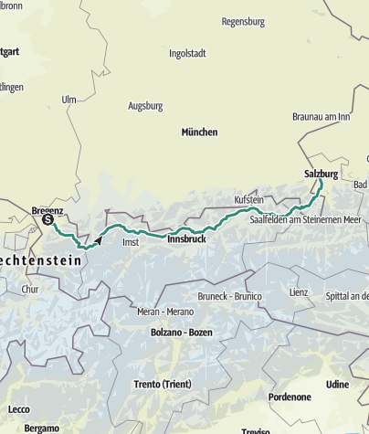 Map / Tour Zurich to Ried