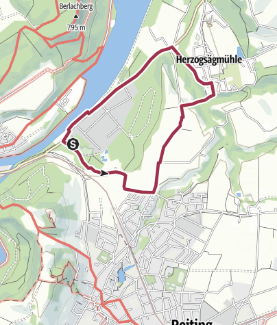 Karte / Märchenwald Roundtour über Herzogsägmühle