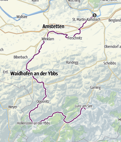 Karte / Ybbstalradweg