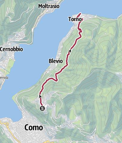 מפה / Über Mulattiere von Burmate nach Torno