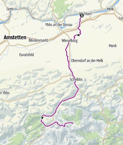 Karte / Ötscherland-Radroute