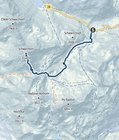 Map / Flüela Schwarzhorn (3146)