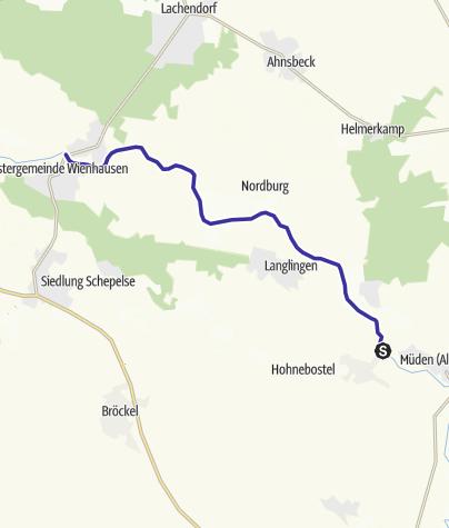 Karte / Flusswandern Nr. 1 Aller Dorfspion