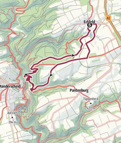 Karte / Eckfeld-Manderscheider Rittersteig-Eckfeld