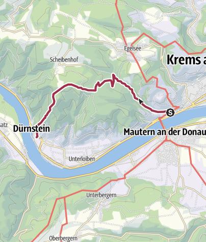 Karte / Tourenplanung am 21. Mai 2016