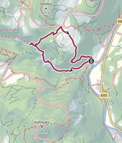 Karte / Durch die Almbachklamm