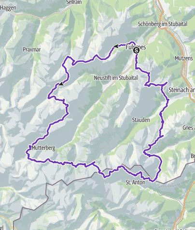 Karte / Urndliche Stubairunde