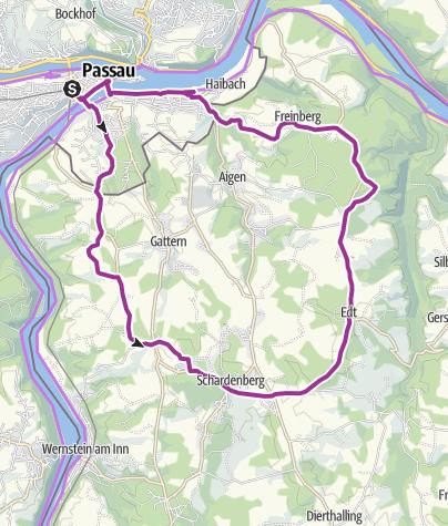 Karte / Schardenberg-Hareth-Tour