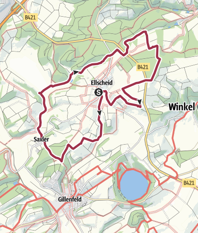 Karte / Auf dem Antoniusweg bei Ellscheid Vulkaneifel