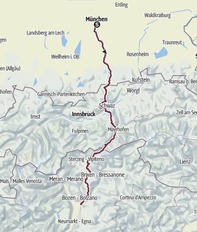 Alpenüberquerung München Bozen Fernwanderweg