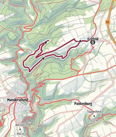 Karte / Eckfeld-Wenzelsteig-Eckfeld