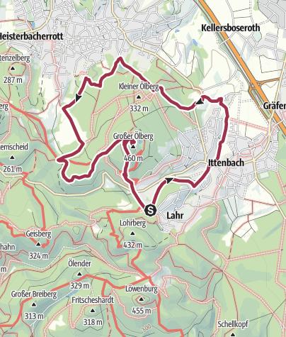 Karte / Ölbergrunde mit Aufstieg zum Ölberg