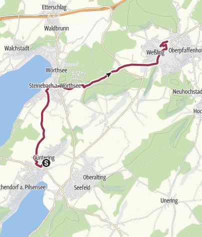 Karte / Seefeld-Wörthsee-Weßling